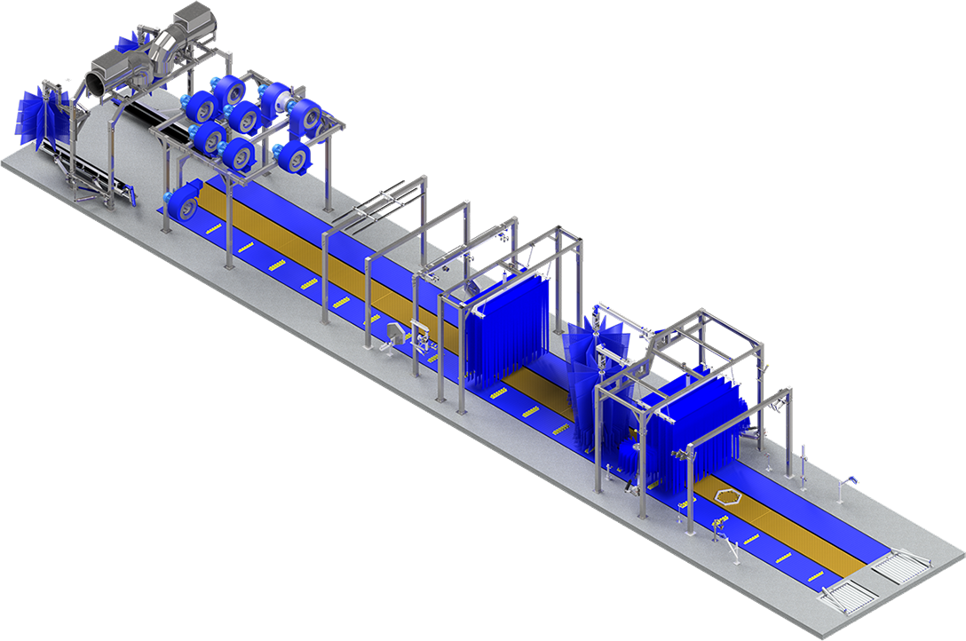 Mid-size - 90' tunnel system