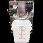 Pump Panel Air Foaming w/FLOJET Pump, Compact Panel w/8 qt Bucket