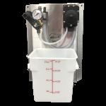 Pump Panel Air, Non-Foaming, w/FLOJET Pump, Compact Panel w/8 qt Bucket