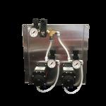 Pump Panel FLOJET, Dual, Non-Foaming w/2 Viton Pumps, 2 FRL's, 12 qT bucket